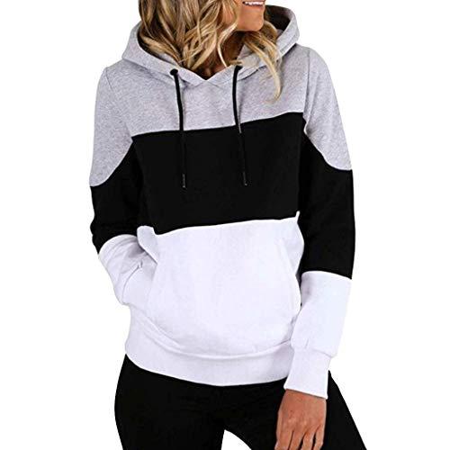 Shinehua Hoodies Dames casual losse kleurblok capuchonpullover trekkoord lange mouwen sweatshirt top trui met capuchon bovendeel capuchonjack streetwear sweater tops