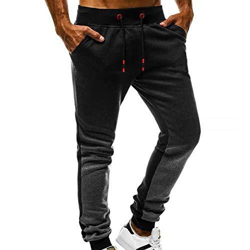 PANGCONK Broek voor heren, oversized sportbroek, comfortabele trainingsbroek, sweatbroek voor gym, training, casual, elastisch, klassiek, smalle broek.