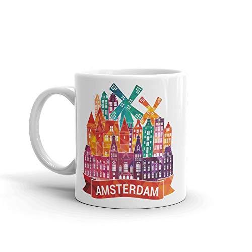 Amsterdam Tazas taza de café de cerámica de alta calidad regalo perfecto cumpleaños navidad