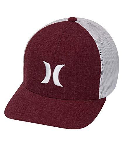 Hurley M Icon Textures Hat Gorras, Hombre, Team Crimson, S/M