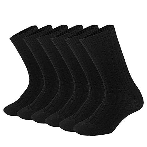 Mens Wool Socks Winter Warm Crew Socks Soft Knit Thick Thermal Cozy...