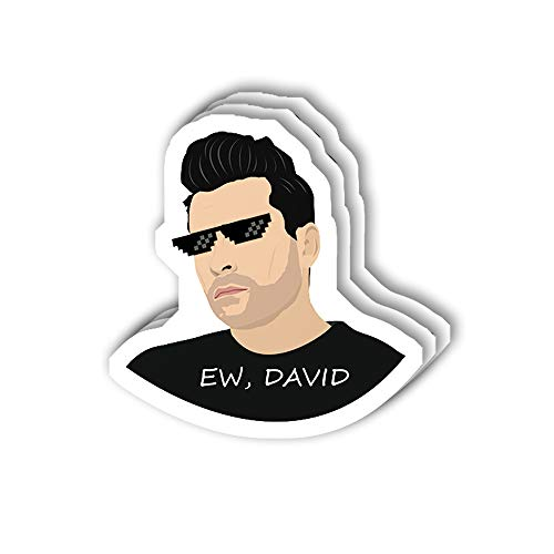 msgolbi 3 PCs Stickers ew David Sticker for Laptop, Phone, Cars, Vinyl Funny Stickers Decal for Laptops, Fridge