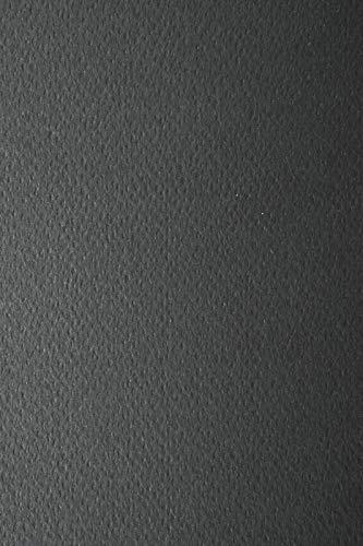 10 Blatt Schwarz 220g Tonkarton einseitig strukturiert DIN A4 210x297 mm Prisma Nero Strukturkarton durchgefärbt Karten-Karton mit Textur bunt Foto-Karton mit Prägung A4