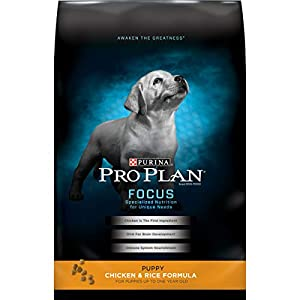 Purina Pro Plan Dry Puppy Food, FOCUS Chicken & Rice Formula – 18 lb. Bag