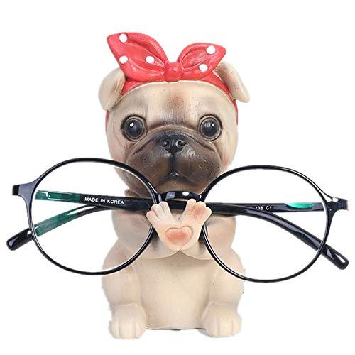 Brillenhalter,Niedlichen Hund Tiere Geformte Harz Brille Halter Regal Münze Beste Geschenk für Kinder Freunde