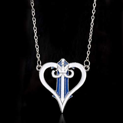 YUNMENG Collar de Corazones del Reino para Mujer, Collares con Colgante de Corona de corazón de melocotón, Collares de joyería para niñas Adolescentes