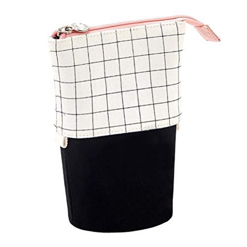 Estuche retráctil para lápices permanente, bolsa de almacenamiento para guardar tijeras, delineador de ojos y brochas de maquillaje.