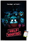 Trends International Five Nights at Freddy's - Help Wanted Wall Poster, 22.375' x 34', Poster & Mount Bundle