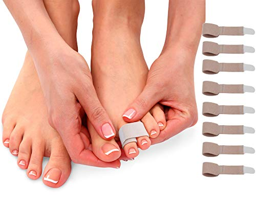 Broken Toe Wraps Toe Tape - Toe Bandages to Align and Straighten Toes. Idea Toe Splint for Bent or Crooked Hammer Toes, Fractures or Injuries. Doubles as Toe Separator & Toe Straightener