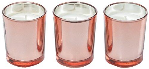 Ritzenhoff 5090004 Aroma Naturals Luxury geurkaars set van 3, glas, zwart/roze, 5 x 5 x 6 cm, 3 stuks