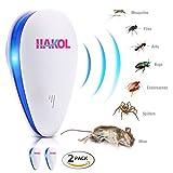 HAKOL Set di repellenti per parassiti ad ultrasuoni - Repellente elettronico per topi, ratti, insetti, ragni, cimici, zanzare, formiche e altro