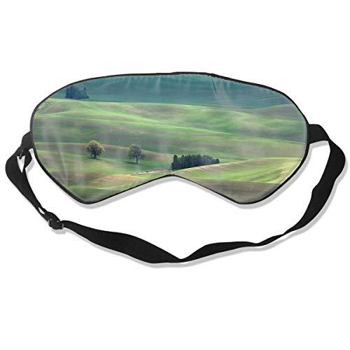 Oogmasker Groene Plain Slapen Masker Verstelbare Ademende Slaap Masker Slapende Slaap Ogen Masker Oogschaduw Blindfold