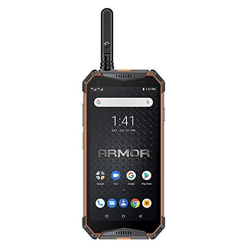 Ulefone Armor 3WT Rugged Cell Phones Unlocked, IP68 Walkie Talkie Waterproof Smartphone, 10300mAh, 5.7 Inch, 6GB + 64GB, Android 9.0, 4G Dual SIM, Compass NFC GPS OTG Shockproof, Dustproof (Orange)