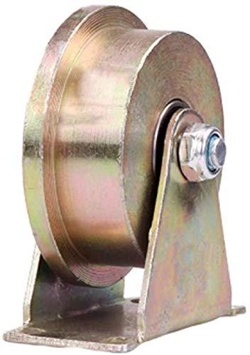 Stijve T-Slot Roller schuifpoort Roller Gegalvaniseerde Verf high-Performance schuur Deur Rollers 45-inch Staal Schuifhek Accessoires voor poort Frames trolleys voor Industriële Machines draadje 80 mm.