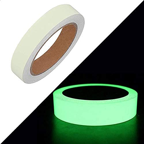 Glow in The Dark Tape -Fluorescent Tape,Bright for Black Rooms and Dark Areas, Luminous Tape Sticker, Safety Use to Mark Stairs, Walls, Steps, Railings, Exits(32.8Feet×1Inch)