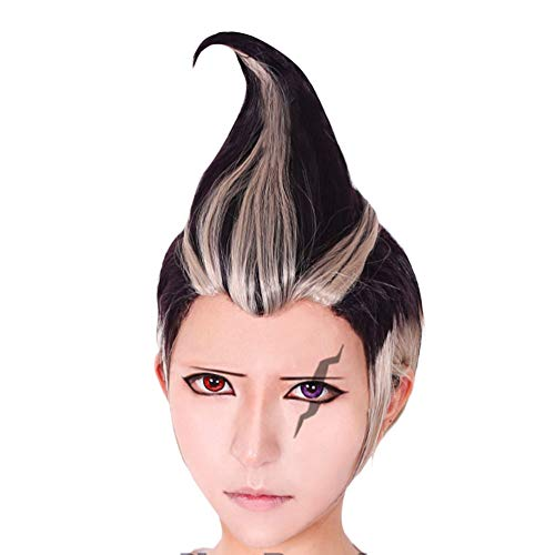 ANOGOL Wig Cap+Multi-Color Wigs short straight Cosplay Wig black and brown Synthetic Wigs for Movie