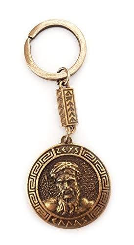 IconsGr Llavero Antiguo con Escudo Zeus