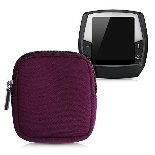 kwmobile Tasche kompatibel mit Bosch Intuvia - E-Bike Computer Neopren Hülle - Schutztasche Brombeere
