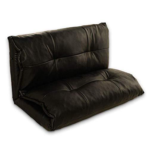 PXX Sessel Verstellbare Position Schlafsofa Klappboden Lounger Sleeper Futon-Matratze Sitzstuhl Erkerfenster Sofas Für Wohnzimmer Schlafzimmer Empfang,Schwarz,100 * 210 * 26Cm