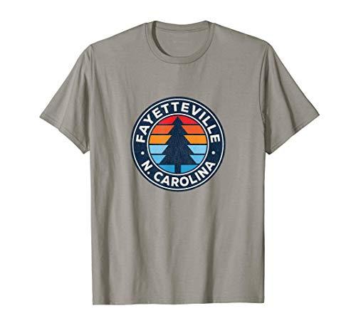 Fayetteville North Carolina NC Vintage Graphic Retro 70s T-Shirt