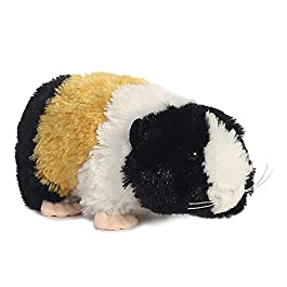 AURORA, 31725, Mini Flopsies Guinea Pig, Soft Toy, Multi-Coloured, Black, White, Orange, Pink