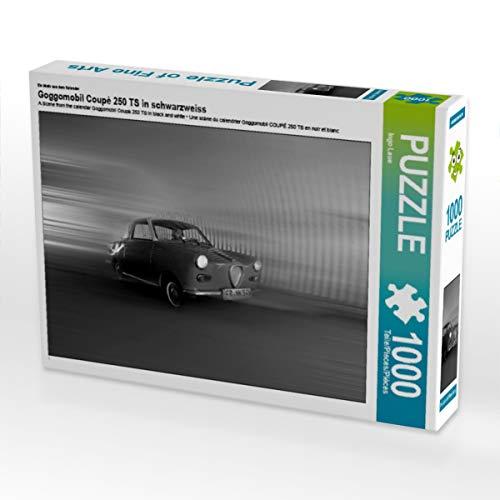 CALVENDO Puzzle Goggomobil Coupè 250 TS in schwarzweiss 1000 Teile Lege-Größe 64 x 48 cm Foto-Puzzle Bild von Ingo Laue