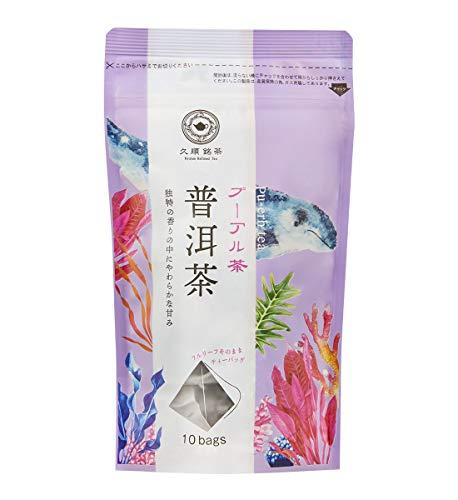 久順銘茶 プーアル茶(黒茶 中国健康茶 茶葉が開く ティーバッグ 2g×10P)