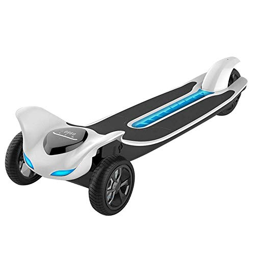 Elektro-Skateboard 3-Rad-Scooter drahtlose Fernbedienung Scooter Brushless-Rad-Motor Double Drive 4800mAh Batterie-Lebensdauer 18km Nuclear Last 265Ib, Weiss, Weiss,Weiß