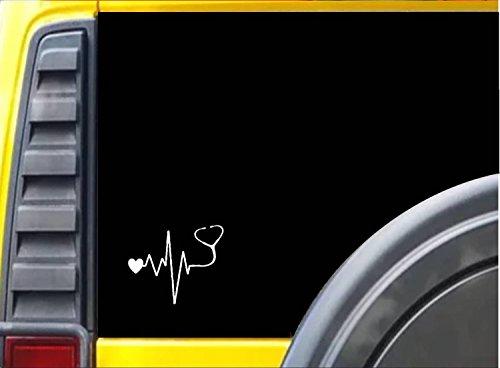 EZ-STIK Stethoscope -Doctor- Nurse -Heart - J772 6' - Decal/Bumper Sticker Heartbeat Lifeline