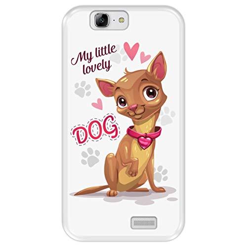 Funda Transparente para [ Huawei Ascend G7 ] diseño [ Perrito Chihuahua Lindo - My Little Lovely Dog ] Carcasa Silicona Flexible TPU