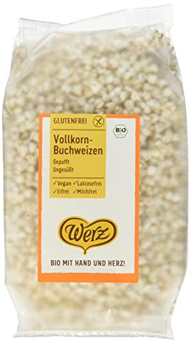 Werz Vollkorn-Buchweizen, gepufft, ungesüßt, glutenfrei (1 x 80g)