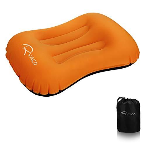 Ryaco Camping Kissen Leichtes Reisekissen, Aufblasbares Kopfkissen Nackenkissen, komprimierbar, kompakt, ergonomisches Camping Pillow für Camping, Reise, Draußen, Strand, Urlaubsreise, Büro