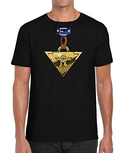 Yu-Gi-Oh Millennium Puzzle Yugi Cosplay Shirt Anime Retro Inspired T-Shirt Black S