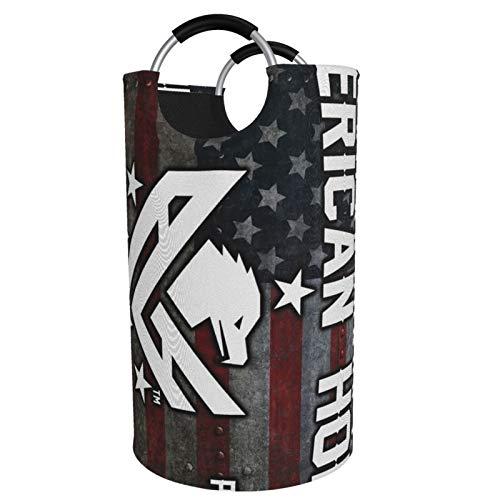 Sunmuchen Cesta de lavandería para el día de la bandera americana, impermeable, grande, organizador para ropa, juguetes, dormitorio, baño, con asas de aluminio
