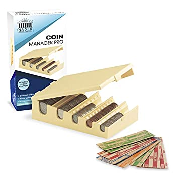 Nadex Coin Manager Pro - Coin Organizer Tray with 120 Coin Wrappers Included