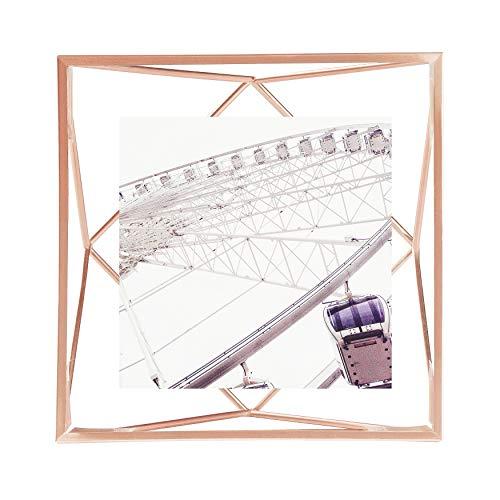 UMBRA Prisma Cadre photo filaire en métal entre deux-verres Prisma, poser ou à accrocher, Pour 1 photo 13x18cm cuivre