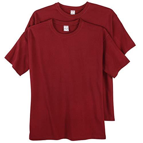 Adamo Tee shirt homme grande taille Bordeau