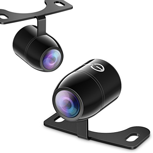 Backup Camera,Esky Mini HD Color CMOS Waterproof 170 Degree Viewing Angle Rearview Camera Car Reversing Rear View/Side View/Front View Security Pinhole Spy Camera (Guideline Version)
