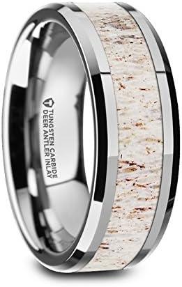 Thorsten Mesa Mall Whitetail Tungsten Same day shipping Rings Comfort for Men