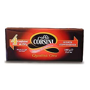 Caffè Corsini Qualità Oro Miscela di Caffè Macinato per Caffè Moka o Caffè Filtro, Caffè Lungo e Americano, Aromatico e…