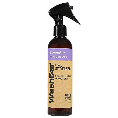 WashBar Natural Dog Deodorant Spray, Lightly Scented, Lavender & Primrose, Dog Freshening Spray Odor Eliminator, All Natural, Daily Use, Large Size 8.45 oz