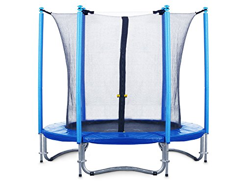 FA Sports Flyjump Monster Garden-Trampolino, Blu - blu 2, 244 cm