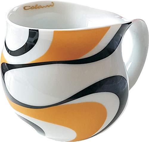 Luigi Colani dekorierte Kaffeetasse Becher Tasse Cappuccinotasse Kaffeebecher Wave Gold & schwarz 280 ml