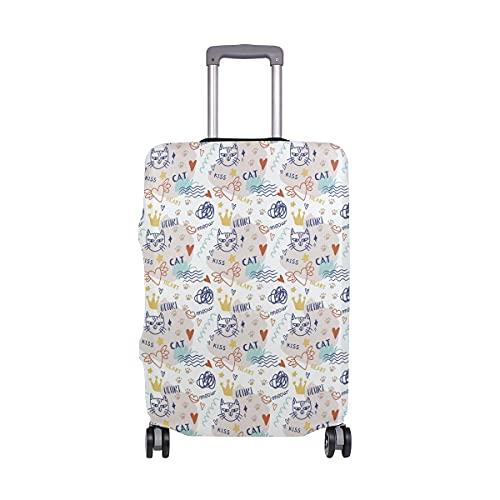 AJINGA Maleta protectora de equipaje de viaje con diseño de calavera mexicana vintage S de 18 a 20 pulgadas