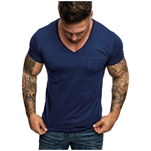 Herren Sommer T-Shirt Raglan Ärmel Fitness Shirt Sport Rundhals-Ausschnitt Slim Fit Moderner Männer T-Shirt Crew Neck Hoodie-Sweatshirt Kurzarm Fitness Shirt Sport T-Shirt Workout Gym