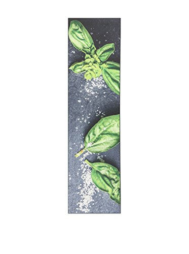 Viva, Vista, Tappeto, Multicolore (Nero/Verde), 66 x 240 cm