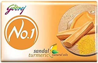 Godrej No.1 Bathing Soap - Sandal & Turmeric, 150g (Pack of 9)
