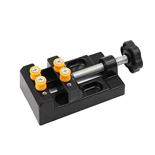 Mini Drill Press Vise Clamp Table Bench Vice for Jewelry Nuclear Clip On DIY Carving Tool Flat Clamp