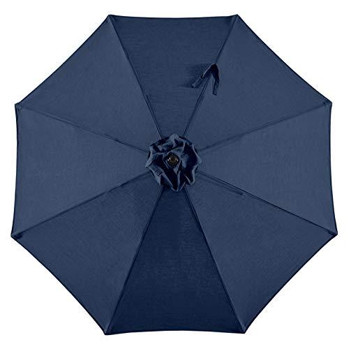 BLUU 10ft 360°Rotation Patio Cantilever Umbrella Replacement Canopy Offset Umbrella Top Outdoor Umbrella Canopy with 8 Ribs (Navy Blue)
