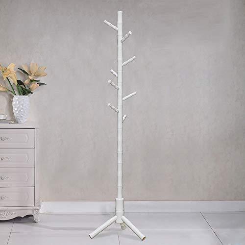 YLCJ palen van bamboe/vloerophanging van massief hout/woonkamer, slaapkamer/kledingrek, eenvoudige muurbeugel (kleur: honingkleurig)